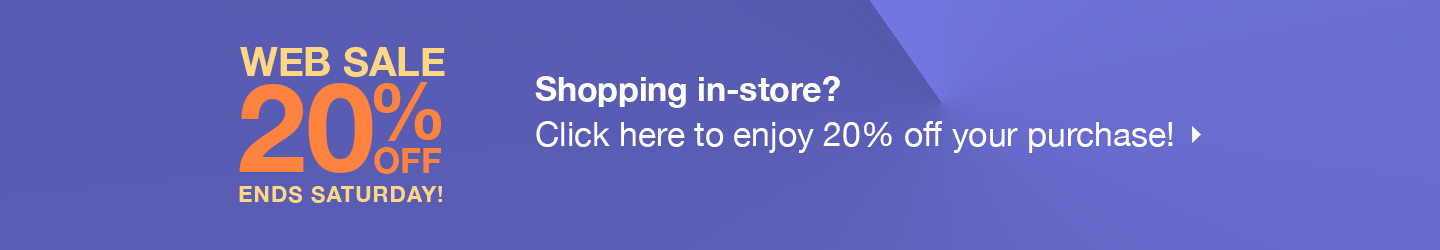 3 Day Web Sale  - Click Here to enjoy 20% Off off your purchase!