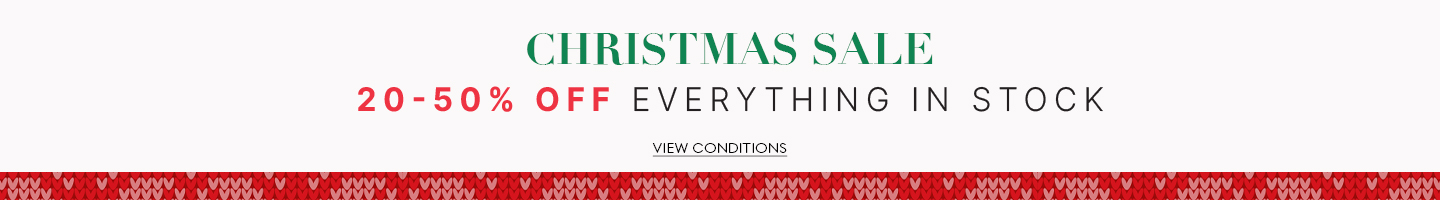 Christmas Sale 20%-50% Off Everything In-Stock