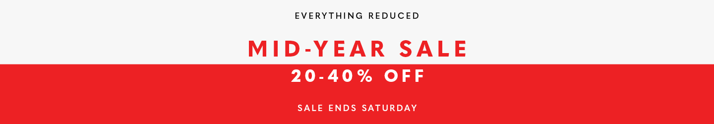 Mid-Year Sale 20-40% Off