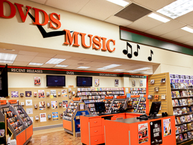 West Ryde store DVDs and Music Section