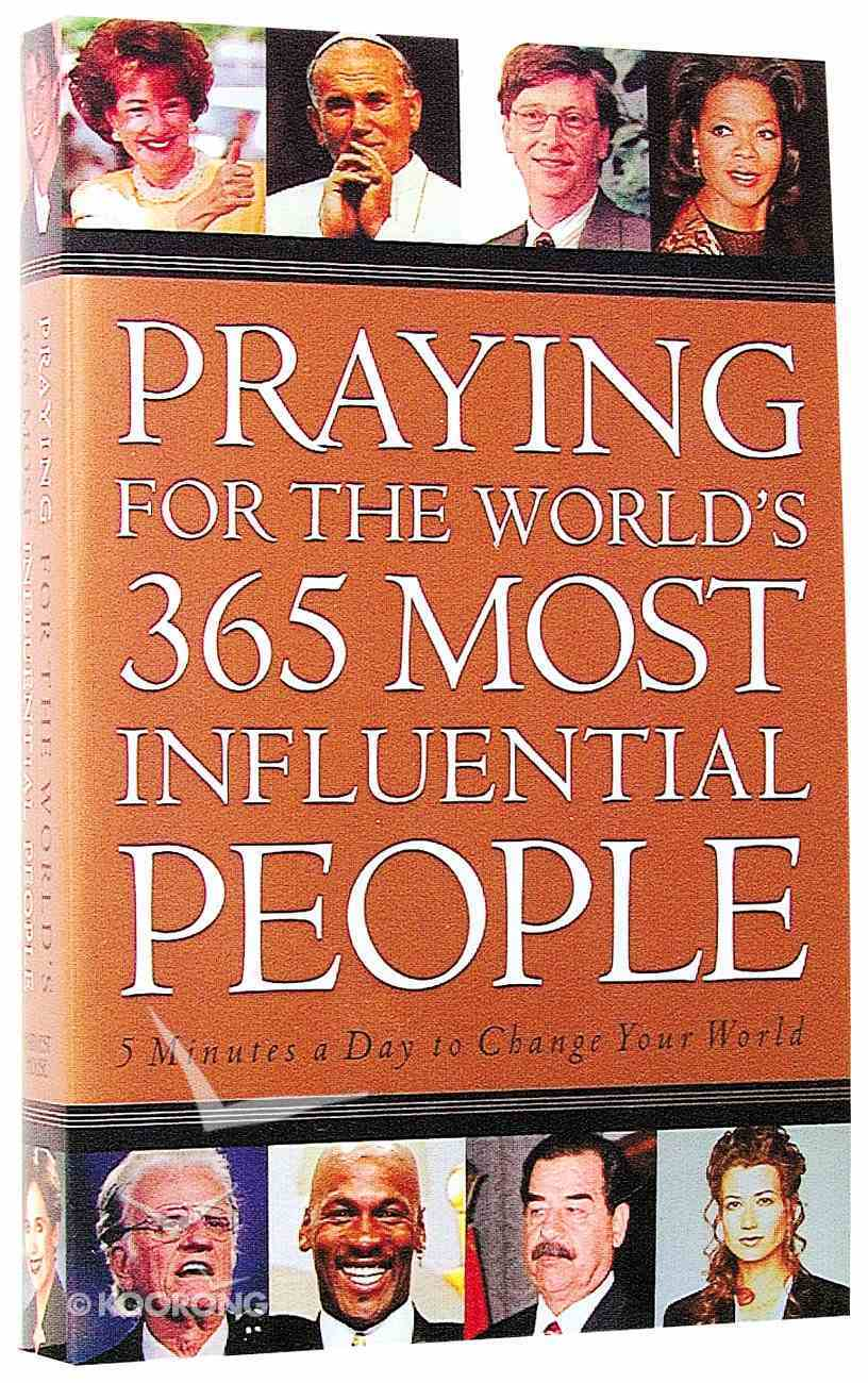 Praying For World's 365 Most Influential People Paperback