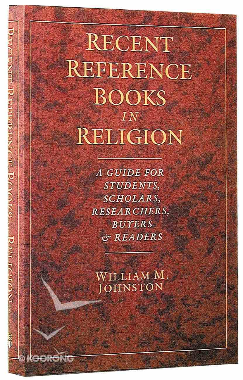 Recent Reference Books in Religion Hardback