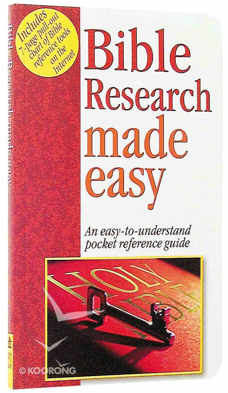 Bible Research Made Easy (Bible Made Easy Series) Paperback