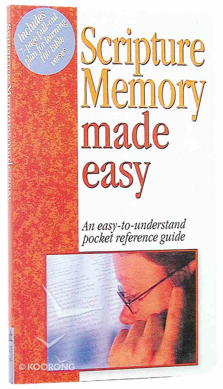 Scripture Memory Made Easy (Bible Made Easy Series) Paperback