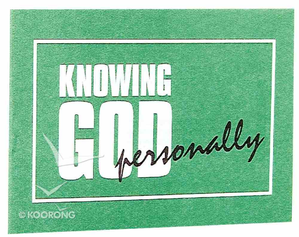 Knowing God Personally (Niv) Booklet