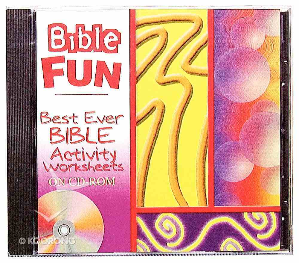 Best Ever Bible Activity Worksheets CDROM Win Mac CD-rom