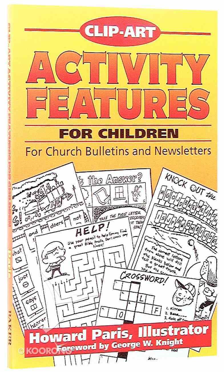 Clip-Art Activity Features For Children Paperback