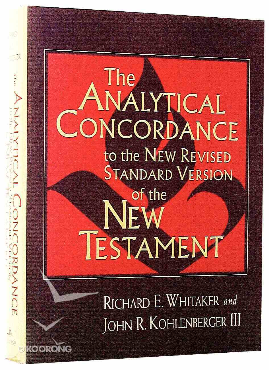 NRSV Analytical Concordance of the New Testament Hardback