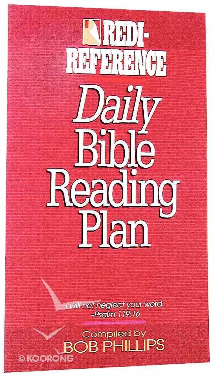 Redi-Reference Daily Bible Reading Plan Paperback