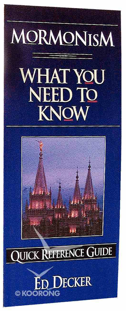 What You Need to Know: Mormonism Paperback
