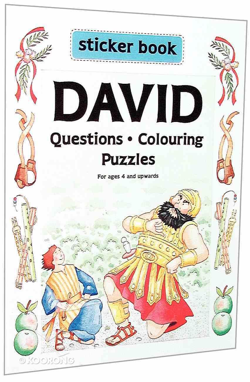 Your Favourite Sticker Book: David Paperback