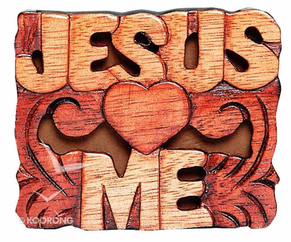 Magnet: Wood Jesus Loves Me Novelty