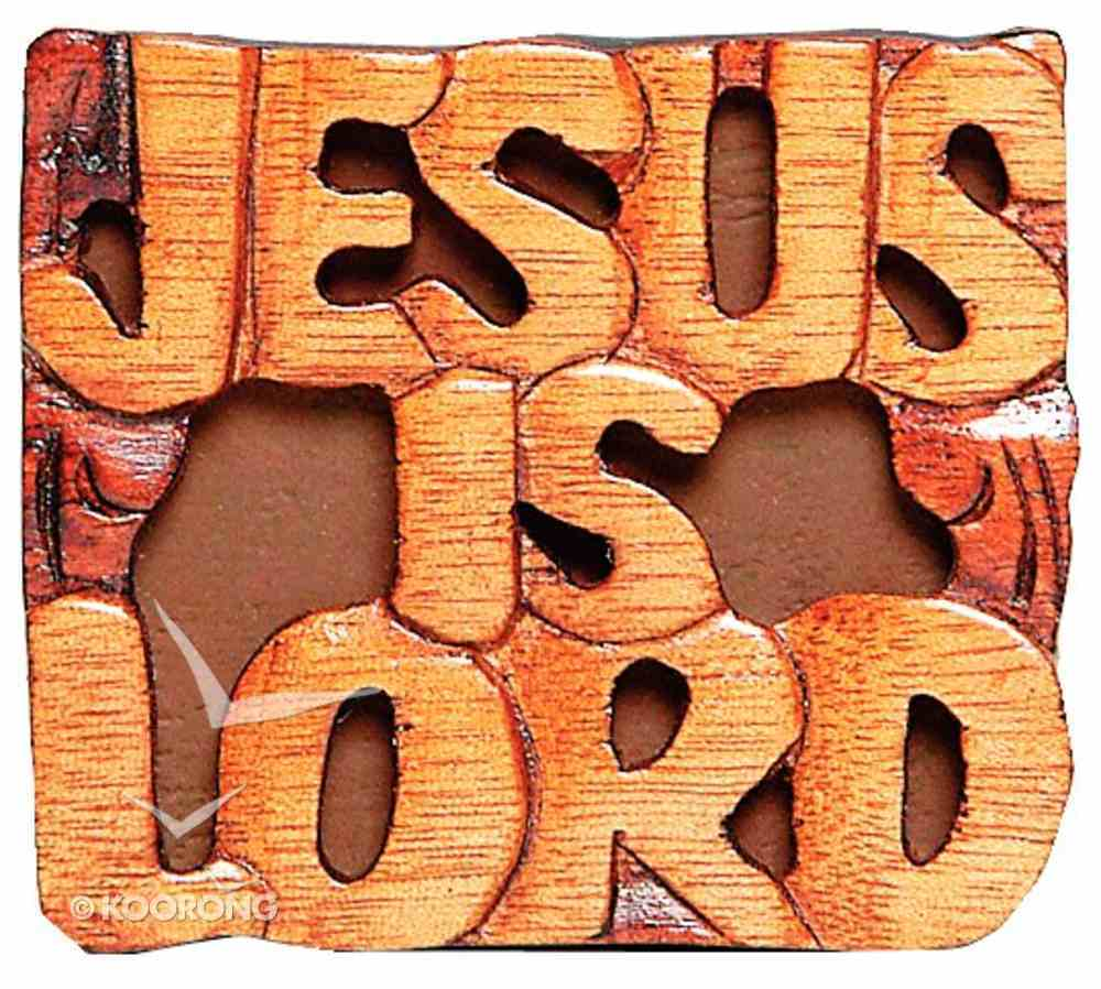 Magnet: Wood Jesus is Lord Novelty