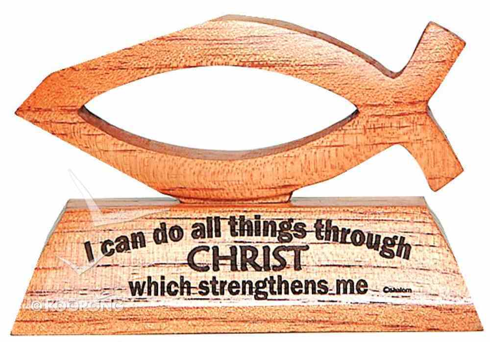 Laser Fish: I Can Do All Things Through Christ Homeware