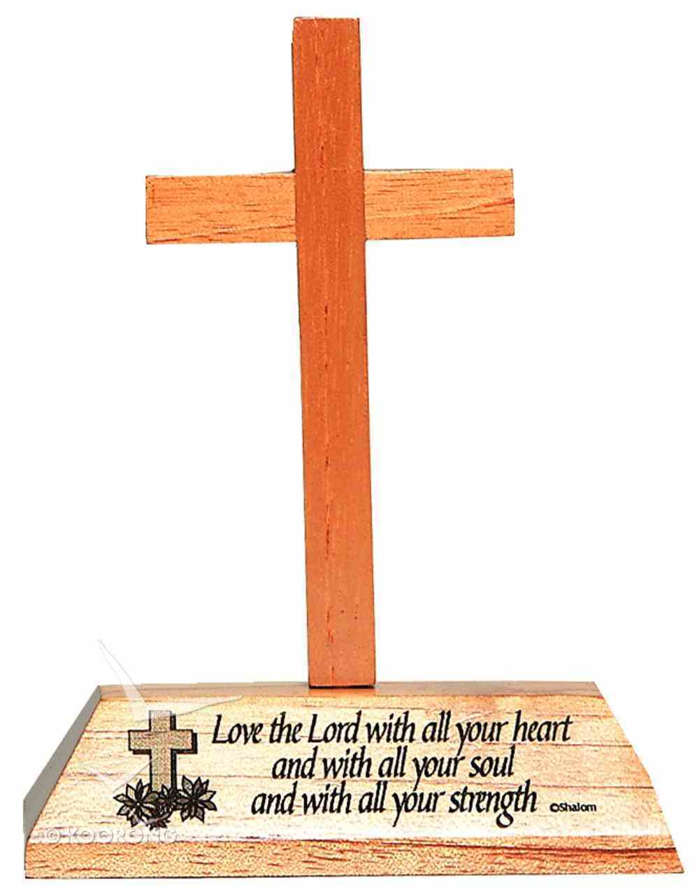 Cross on Stand: Love the Lord Homeware