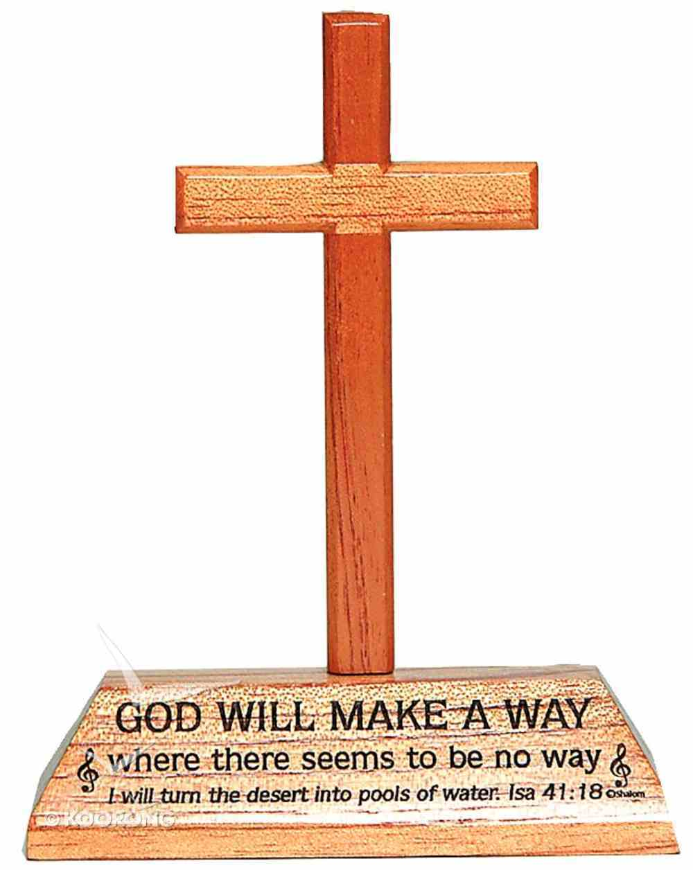 Cross on Stand: God Will Make a Way Homeware
