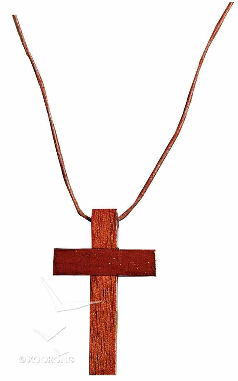 Pendant: Wooden Cross 4cm With Strap Jewellery
