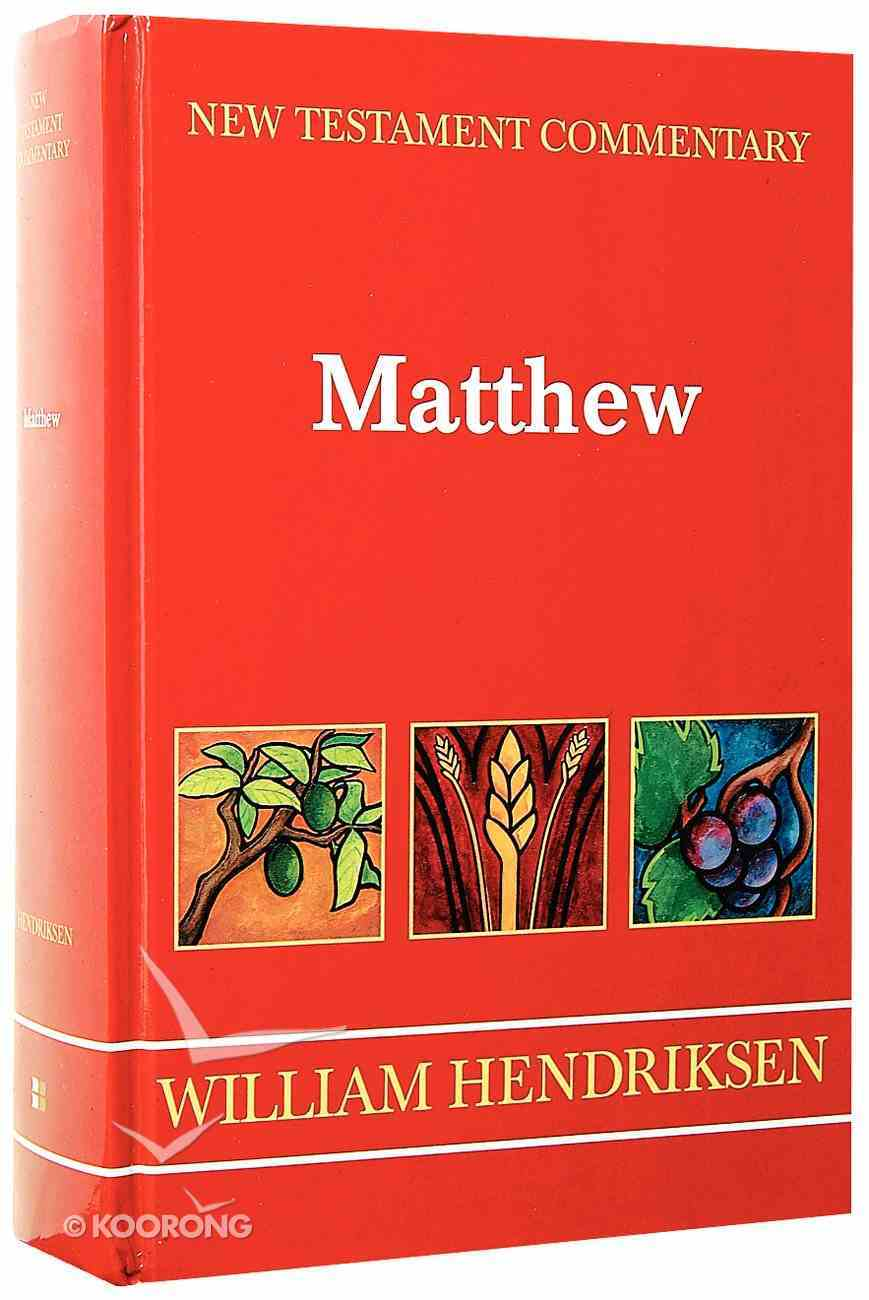 Matthew (New Testament Commentary Series) Hardback