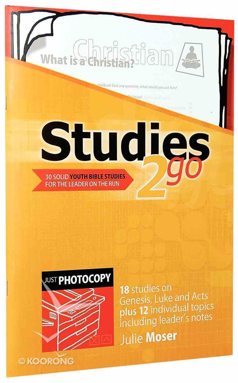 Youth Studies (Reproducible) (Studies 2 Go Series) Paperback