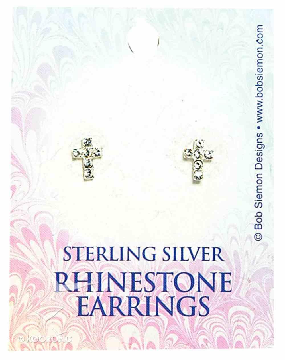 Earrings: Rhinestone Crystal Cross Jewellery