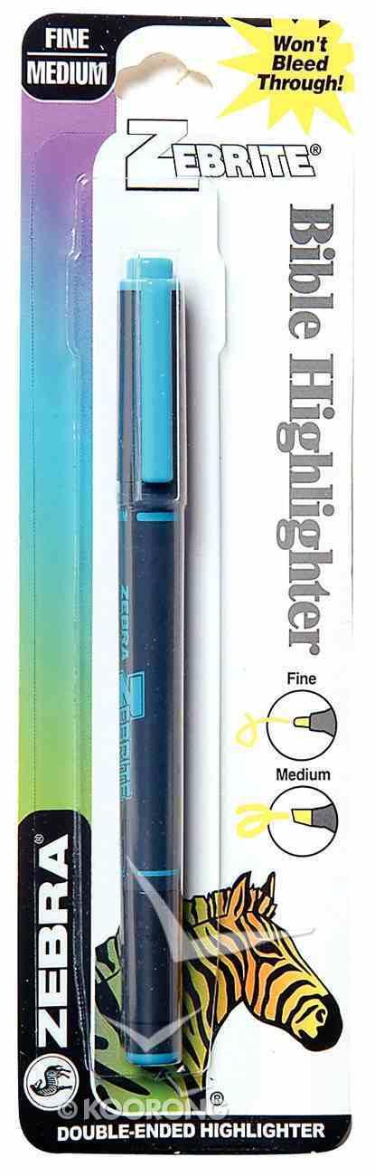 Highlighter: Zebrite Carded Blue Stationery