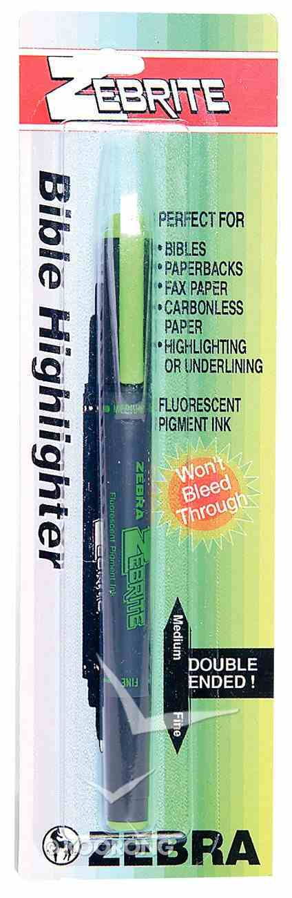 Highlighter: Zebrite Carded Green Stationery