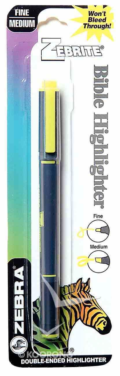 Highlighter: Zebrite Carded Yellow Stationery