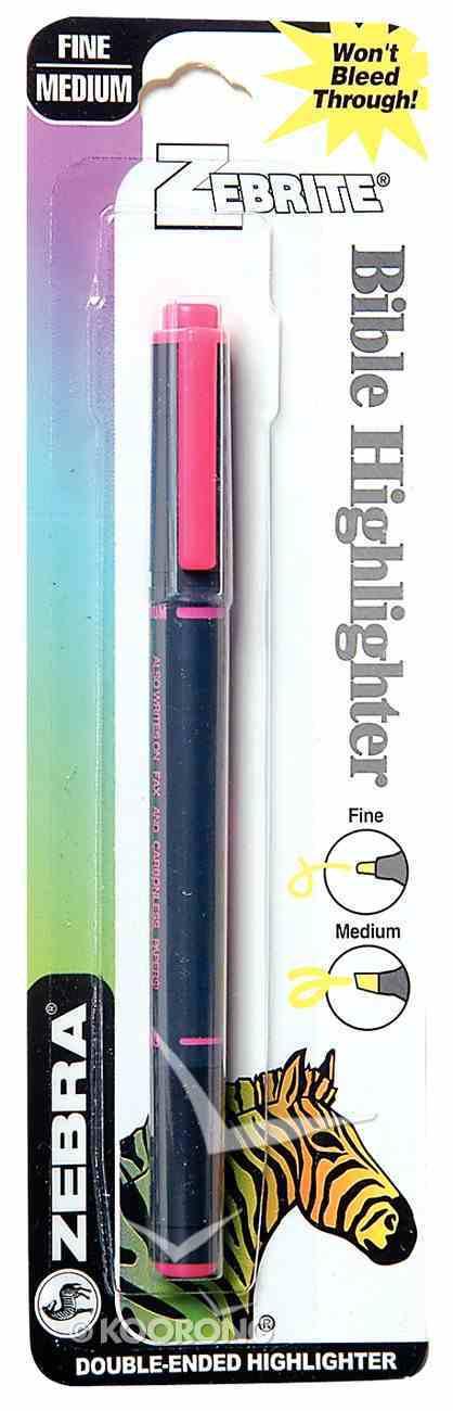 Highlighter: Zebrite Carded Pink Stationery