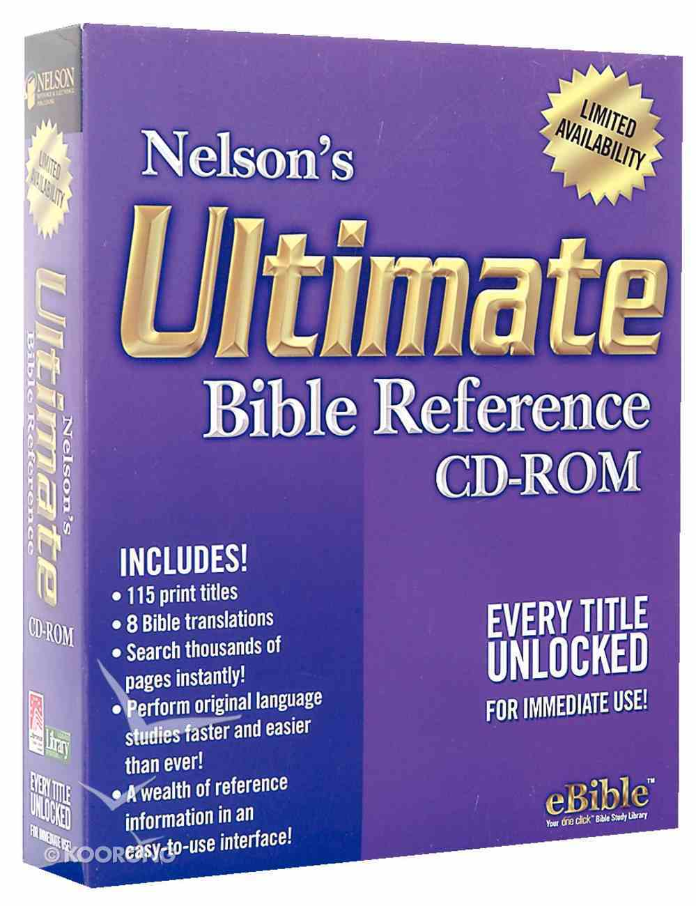 Nelson's Ebible Ultimate Edition CDROM Win CD-rom