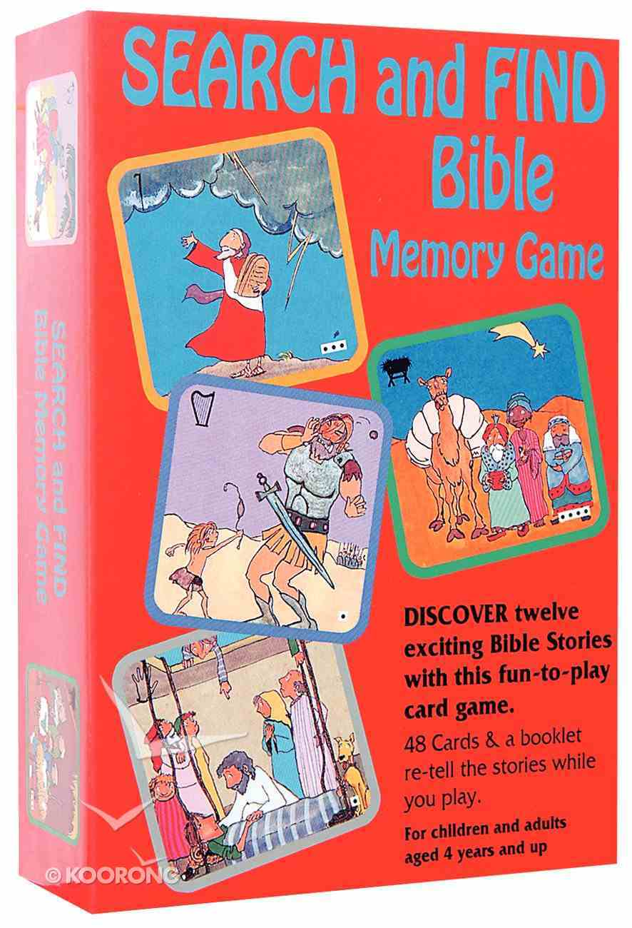 Search and Find Bible Memory Game Game
