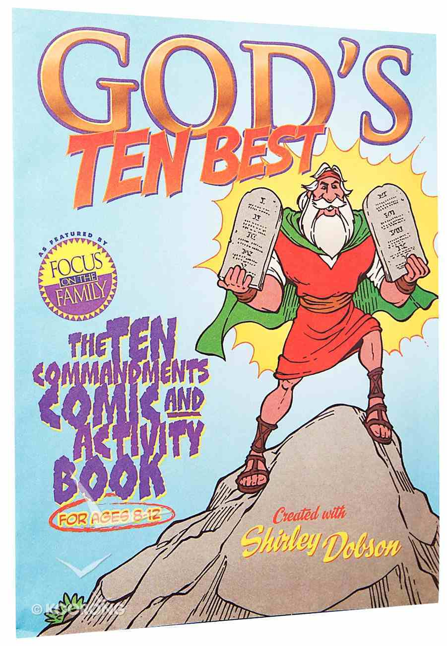 The Ten Commandments Comic and Activity Book (God's Ten Best Series) Paperback