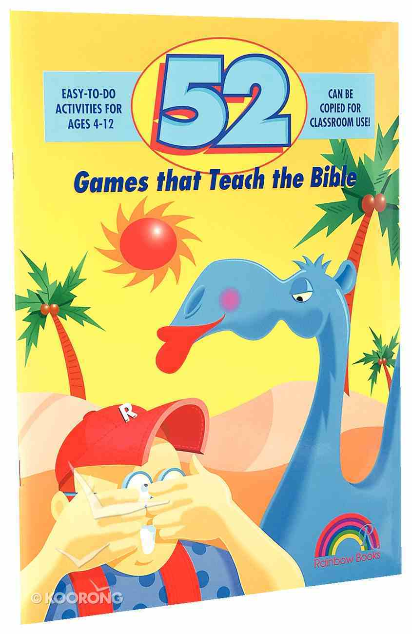 52 Games That Teach the Bible (Reproducible) Paperback