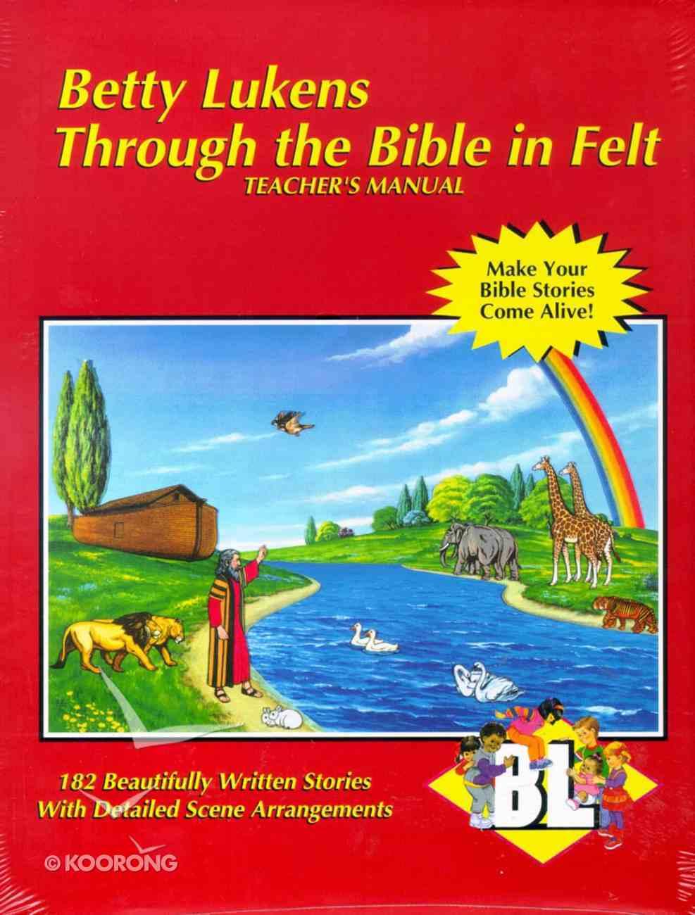 Lukens Through the Bible in Felt Teacher's Manual Paperback
