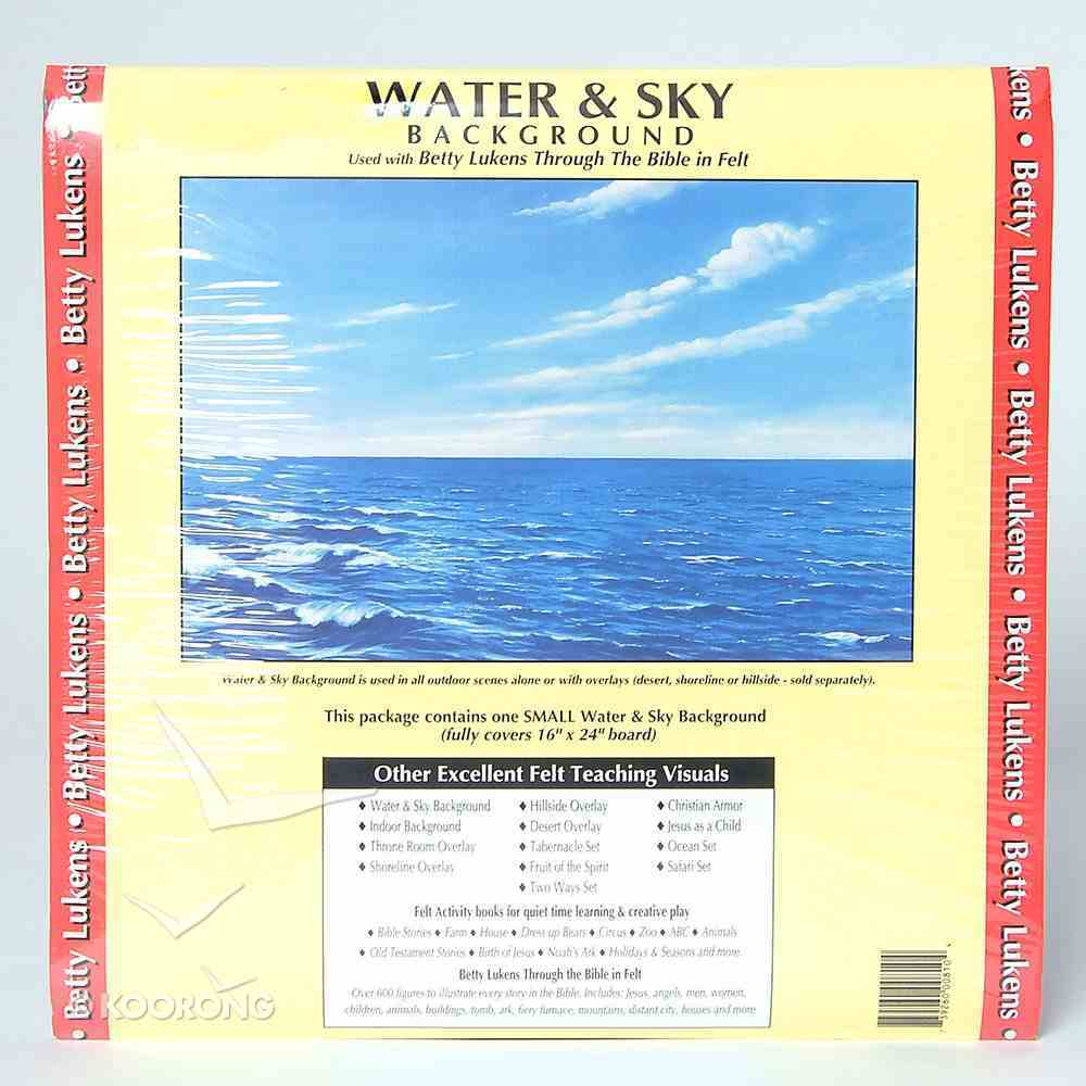 "Lukens Small Unmounted Water & Sky Background (16"" X 24"") Flannelgraph"
