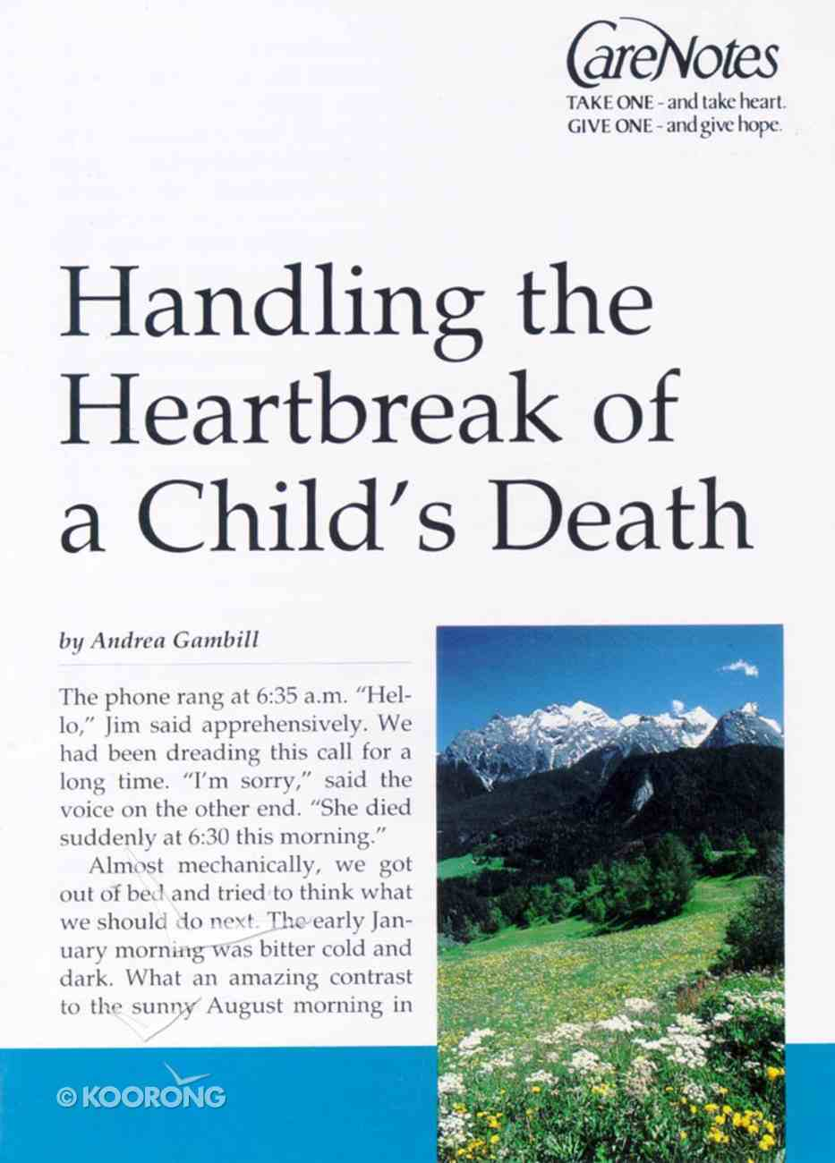 Care Notes: When a Child Dies Paperback