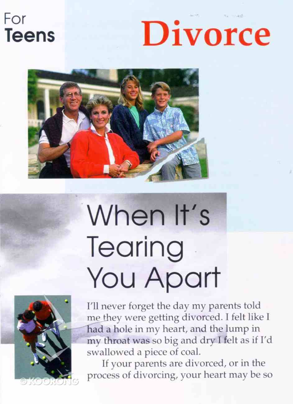 Divorce- When It's Tearing You Apart (Teen Care Notes Series) Paperback