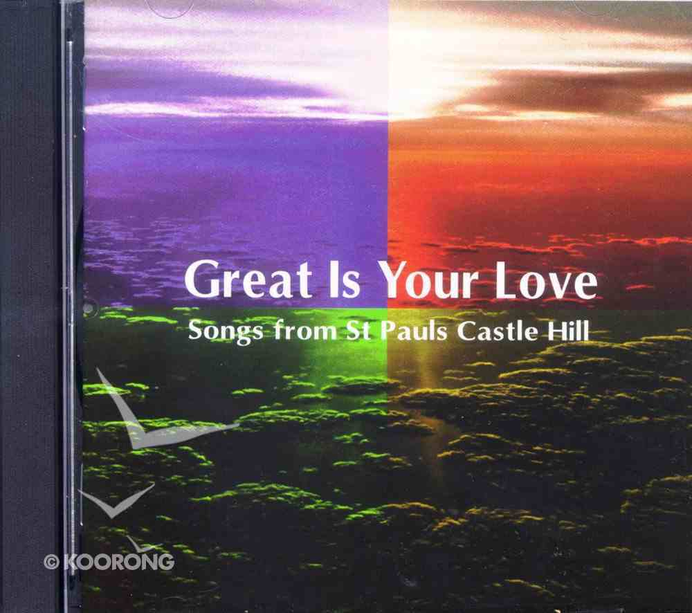 Great is Your Love CD
