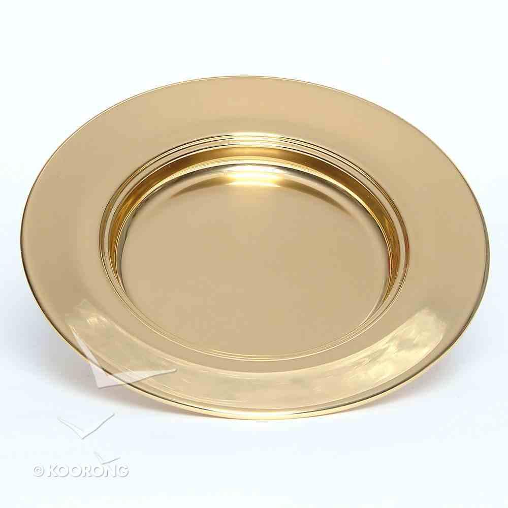 "Bread Plate: Non-Stacking Bass Brasstone (Rw-505ab) (10"" Diameter) Church Supplies"