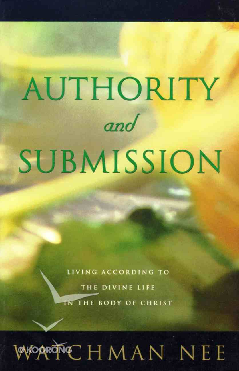 Authority and Submission Paperback
