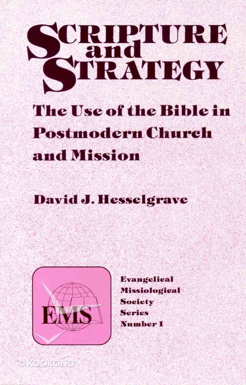 Emss #01: Scripture and Strategy Paperback