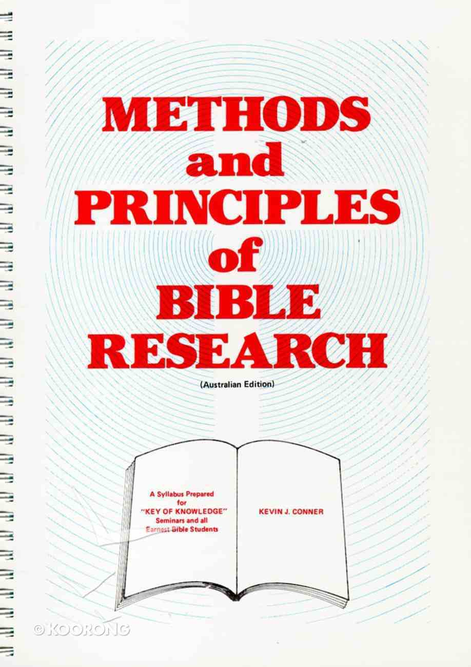 Methods and Principles of Bible Research Spiral