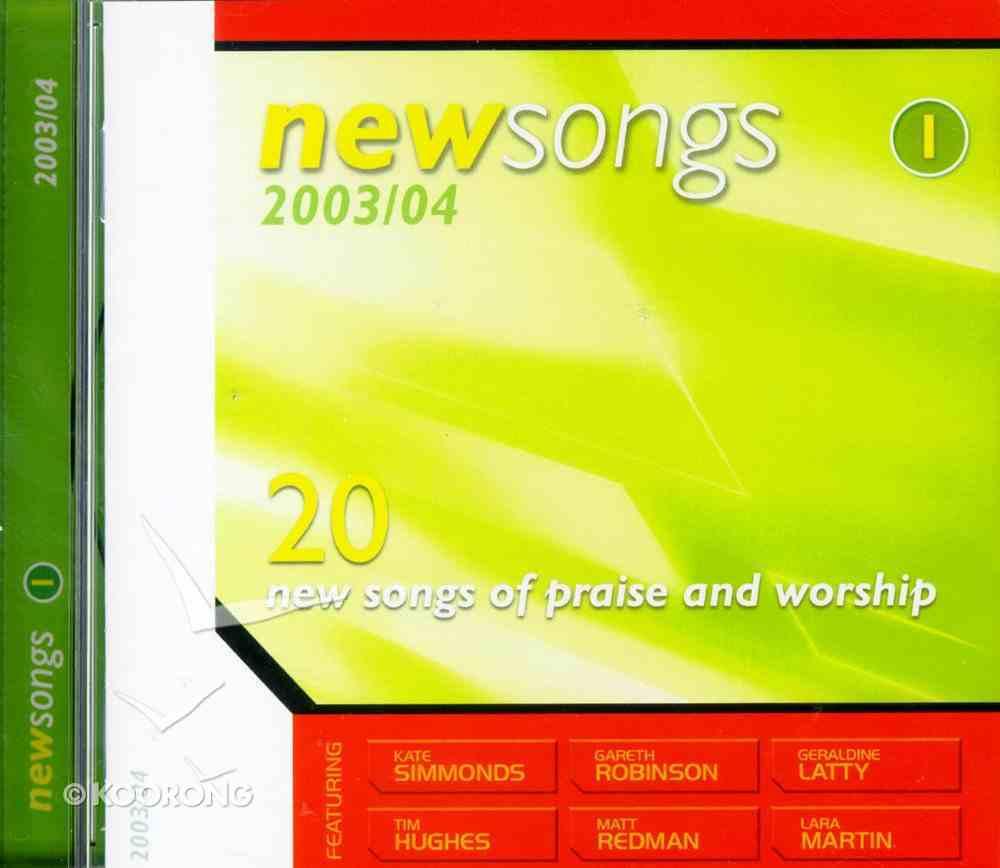 New Songs 2003/2004 Volume 1 CD