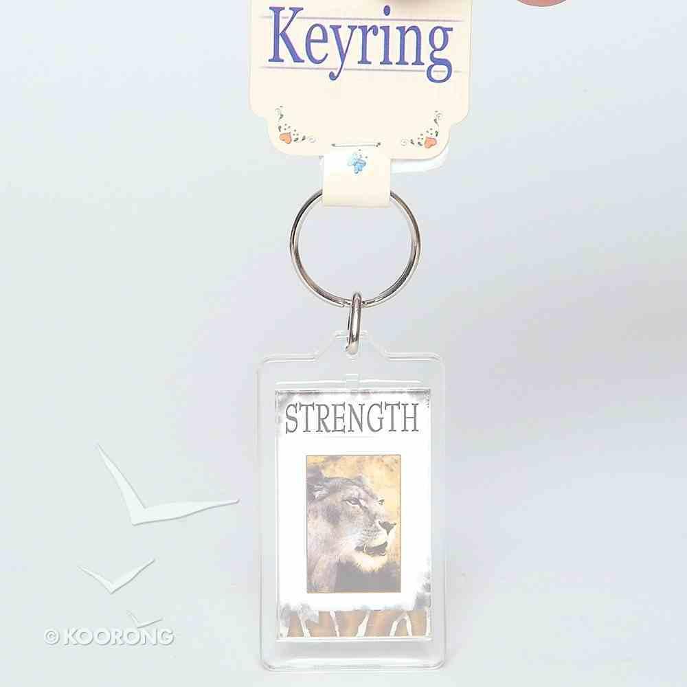 Plastic Keyring: Strength Novelty