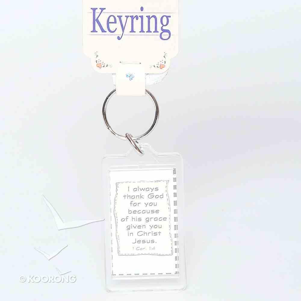 Plastic Keyring: Friendship is God's Way Novelty