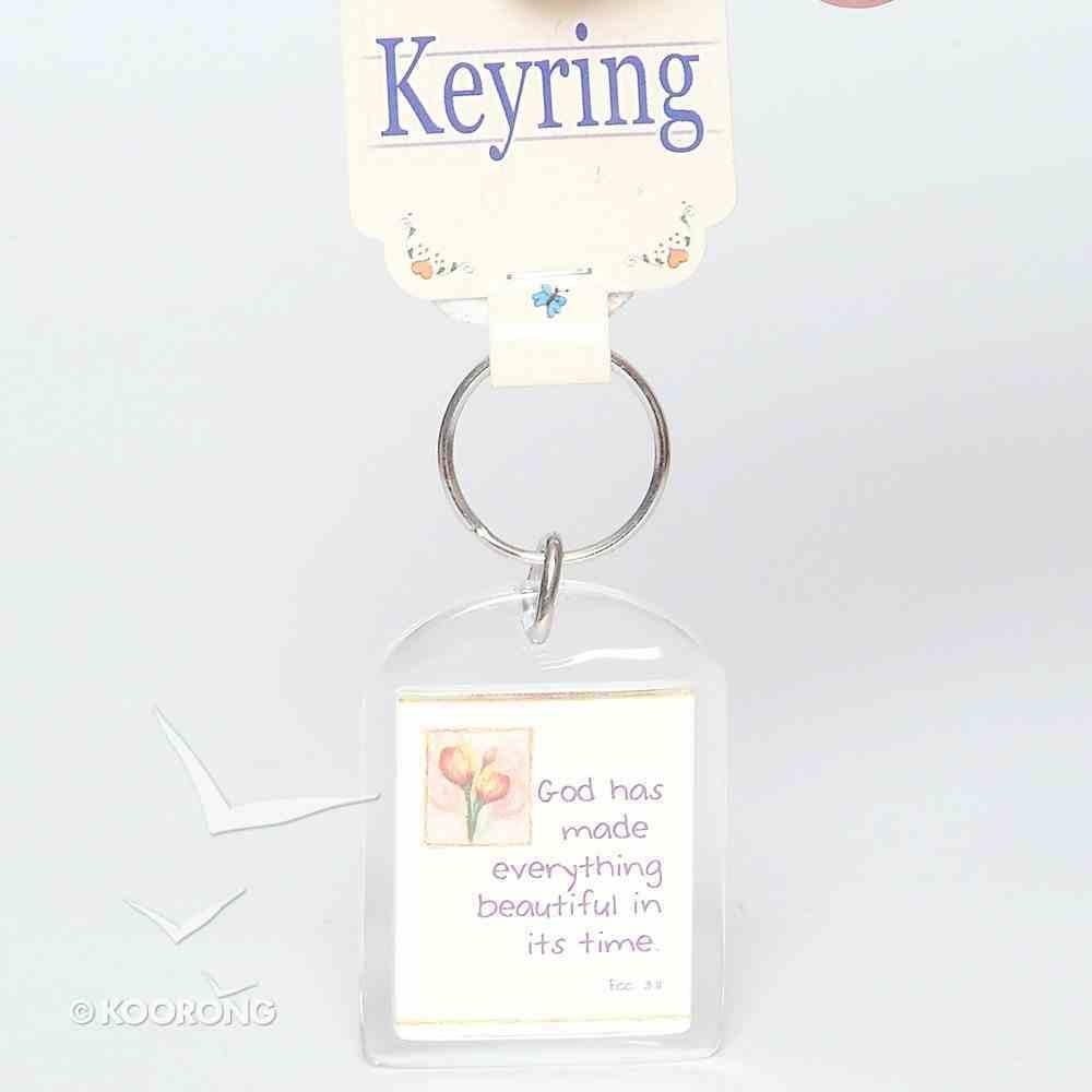 Plastic Keyring: God Has Made Everything Beautiful Novelty