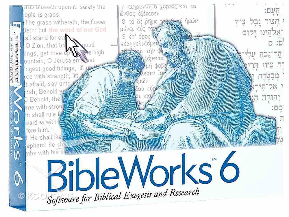 Bible Works 6.0 CDROM Win CD-rom