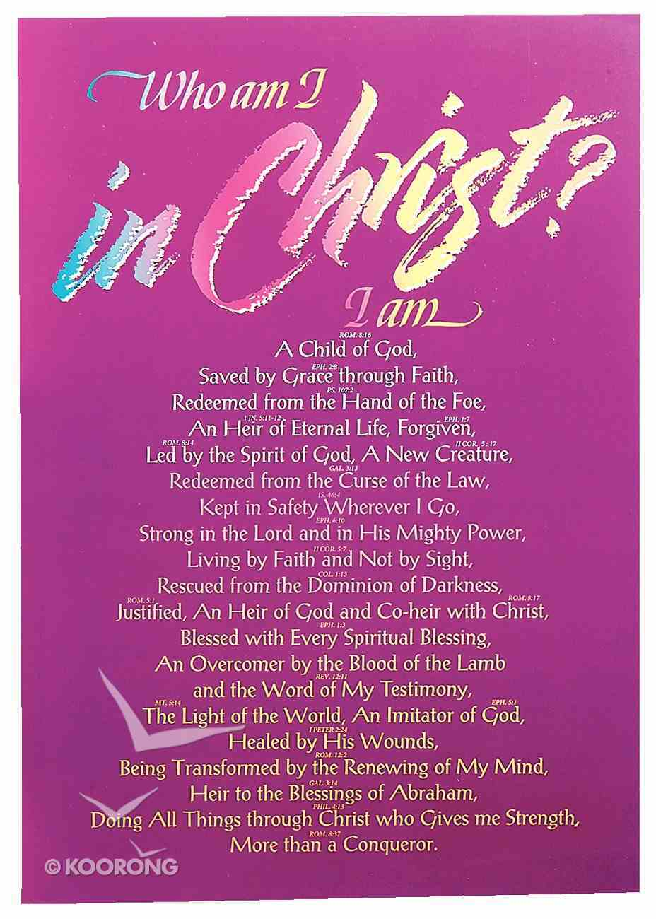 Poster Large: Who Am I in Christ? Poster