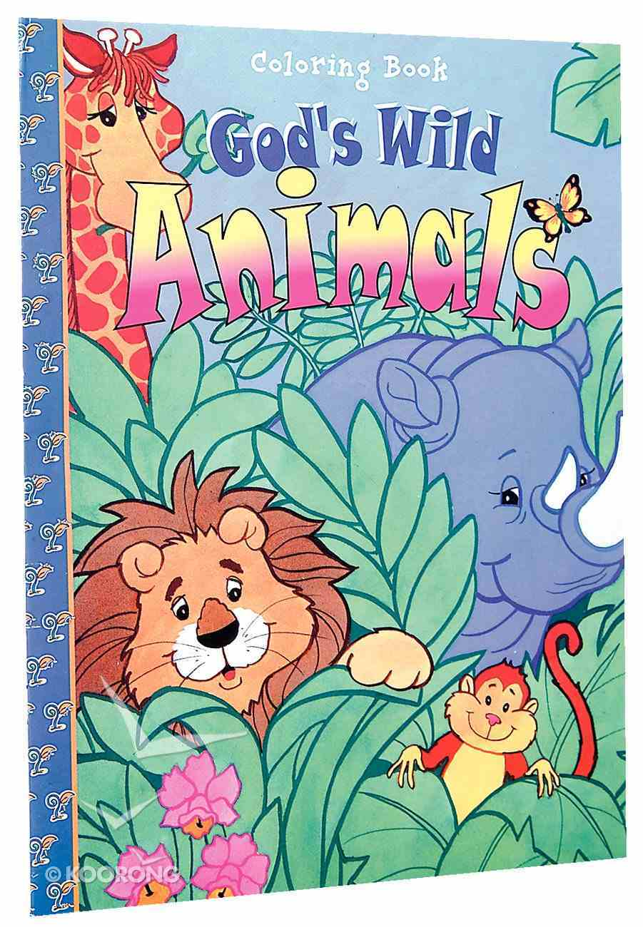 God's Wild Animals (Colouring Book) Paperback