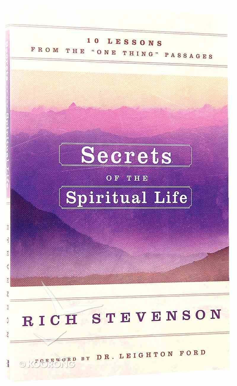 Secrets of the Spiritual Life Paperback