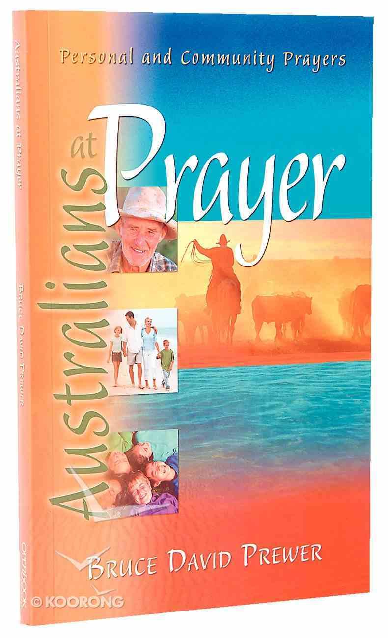 Australians At Prayer Paperback